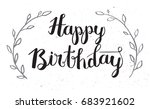 happy birthday hand drawn... | Shutterstock . vector #683921602