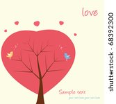 two love birds sit and singing... | Shutterstock .eps vector #68392300