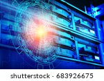 concept of disk storage data... | Shutterstock . vector #683926675
