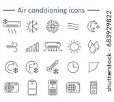 set of air conditioning vector... | Shutterstock .eps vector #683929822