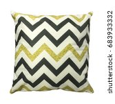 decorative white couch cushion... | Shutterstock . vector #683933332