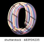 neon colorful font. 3d... | Shutterstock . vector #683934235
