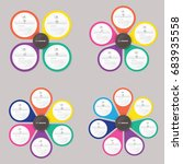 circle infographic template... | Shutterstock .eps vector #683935558