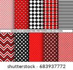 seamless geometric patterns... | Shutterstock .eps vector #683937772