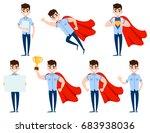 set of businessman character... | Shutterstock .eps vector #683938036