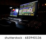 lighting controller console in...   Shutterstock . vector #683940136