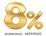3d render illustration. golden...   Shutterstock . vector #683945632