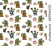 ethnic seamless patterns of... | Shutterstock . vector #683946532