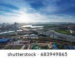 shanghai interchange overpass... | Shutterstock . vector #683949865