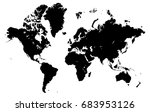 world map isolated on a white... | Shutterstock .eps vector #683953126
