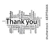 thank you tag cloud in... | Shutterstock .eps vector #683956666