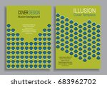blue green book cover templates ... | Shutterstock .eps vector #683962702