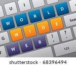 illustration of laptop keyboard ... | Shutterstock .eps vector #68396494