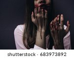 zombie woman death characters... | Shutterstock . vector #683973892