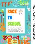 back to school vector... | Shutterstock .eps vector #683977252