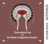 international day of the worlds ... | Shutterstock .eps vector #683983828