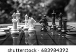 chess in completition on the... | Shutterstock . vector #683984392