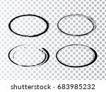 vector frames. ovals for image. ... | Shutterstock .eps vector #683985232
