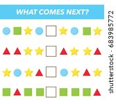 what comes next. vector... | Shutterstock .eps vector #683985772