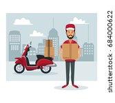 monochrome poster city... | Shutterstock .eps vector #684000622