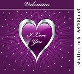 valentine love heart in purple... | Shutterstock .eps vector #68400553