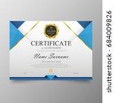 certificate premium template... | Shutterstock .eps vector #684009826