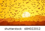 horizontal vector illustration... | Shutterstock .eps vector #684022012