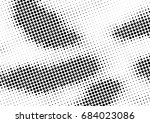 abstract halftone dotted... | Shutterstock .eps vector #684023086