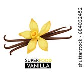 vanilla vector icon. healthy... | Shutterstock .eps vector #684032452