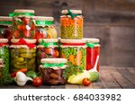 Small photo of Preserved vegetables in the jars