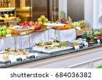 buffet meal at a hotel ... | Shutterstock . vector #684036382