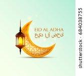 eid al adha cover  mubarak... | Shutterstock .eps vector #684038755
