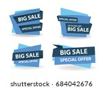colorful shopping sale banner... | Shutterstock .eps vector #684042676