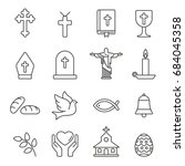 christian  icons  thin... | Shutterstock .eps vector #684045358