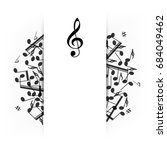 music banner with shadow.... | Shutterstock .eps vector #684049462
