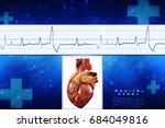 3d anatomy of human heart  | Shutterstock . vector #684049816