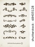 set of vintage decorative... | Shutterstock .eps vector #68405128