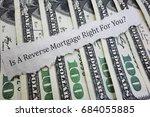 reverse mortgage headline on... | Shutterstock . vector #684055885