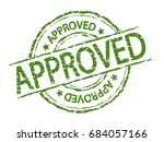 approved stamp sign  green... | Shutterstock .eps vector #684057166