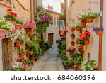spello  umbria   may 29  2017   ... | Shutterstock . vector #684060196