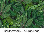 vector seamless pattern with... | Shutterstock .eps vector #684063205