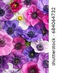anemone full frame. colorful... | Shutterstock . vector #684064732