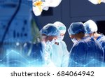surgery  medicine and people... | Shutterstock . vector #684064942