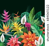background from tropical... | Shutterstock . vector #684065122