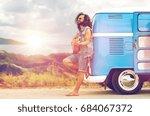 summer holidays  travel  music... | Shutterstock . vector #684067372