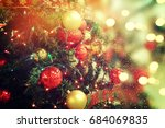 christmas background | Shutterstock . vector #684069835