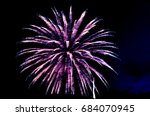 purple pink and white fireworks ... | Shutterstock . vector #684070945