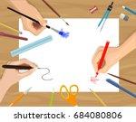 vector flat illustration of... | Shutterstock .eps vector #684080806
