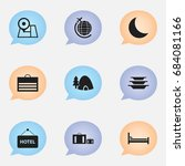 set of 9 editable journey icons....