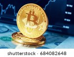 bitcoin crypto currency diagram | Shutterstock . vector #684082648